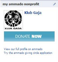 Ammado Donate Now Facebook Box