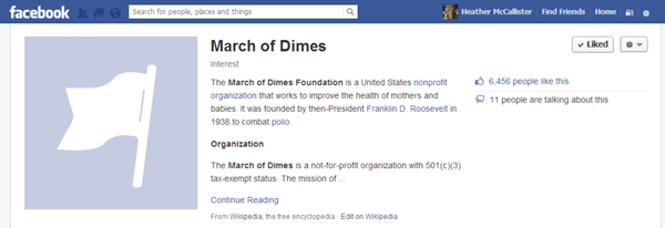 March of Dimes One