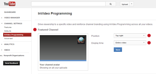 YouTube Settings 3
