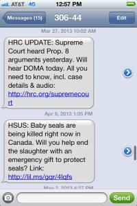 HSUS Text Alert