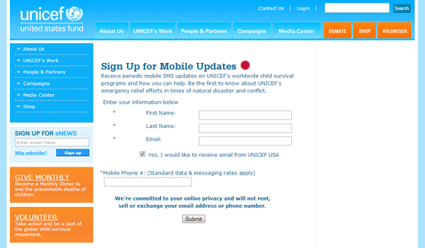 UNICEF Mobile List 2